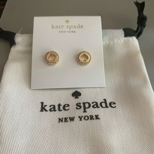 NEW KATE SPADE SPOT THE SPADE CRYSTAL EARRINGS